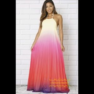 5071b9f4dafb Dresses & Skirts - Beautiful Maxi Dress/Yellow,Purple Ombre
